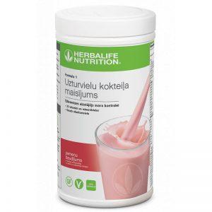 Herbalife Formula 1 Baltyminis kokteilis Braškinis malonumas