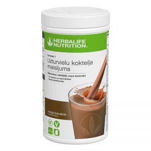 Herbalife Formula 1 švelnaus šokolado baltyminis kokteilis
