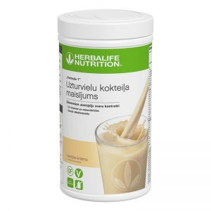 Herbalife Formula 1 Baltyminis kokteilis vanilinis kremas