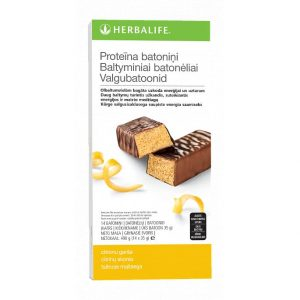 Baltyminis batonėlis (citrinų skonio) (14 vnt.)