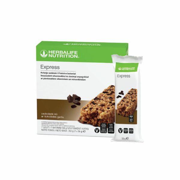 Baltyminis batonėlis Express – šokolado skonio (7 vnt.)